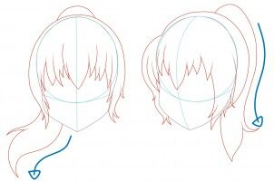 Pin By Piper Noelle On Art Hair Sketch Anime Hair Ponytail Drawing