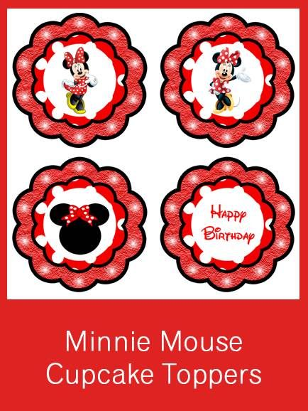 Minnie Mouse Cupcake Toppers Free Pdf Download Luke S