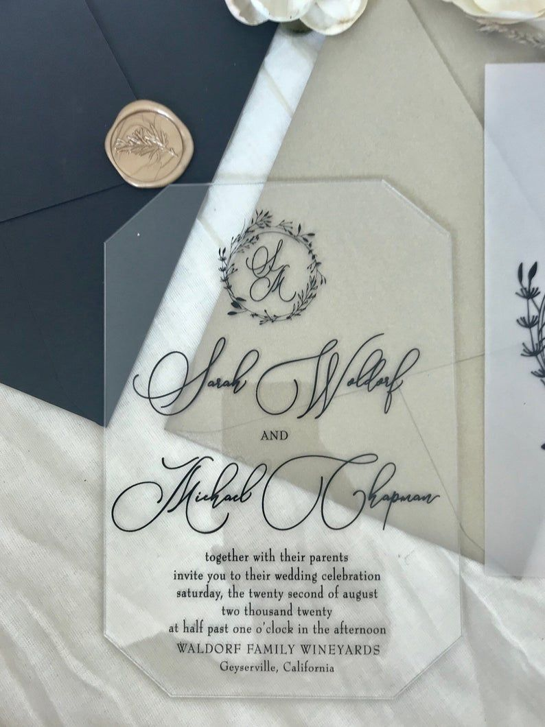 Pin on Clear wedding invitations