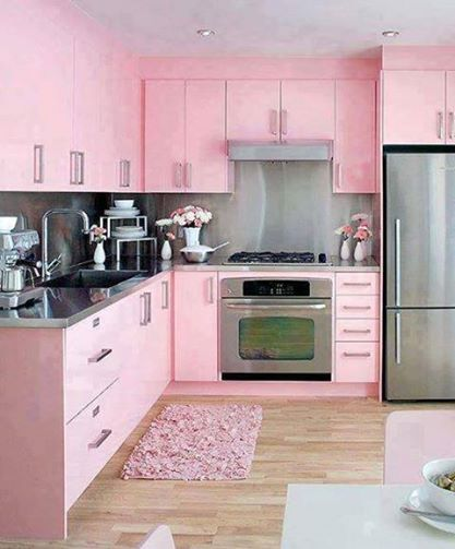 Rosa Küche Was das Herz begehrt Pinterest rosa Küchen, Rosa - farbe fur kuche aktuellen tendenzen