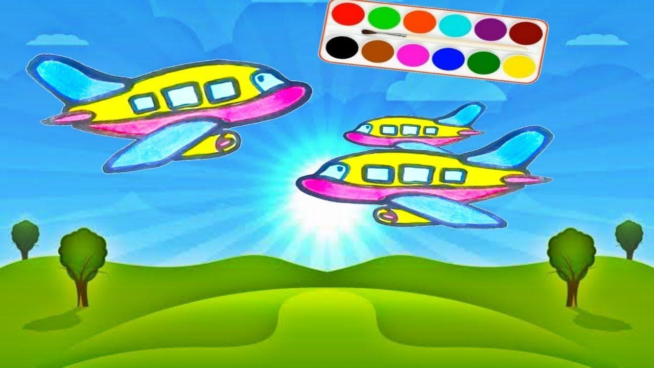 Ide Kreatif Menggambar Dan Mewarnai Pesawat Terbang Dunia