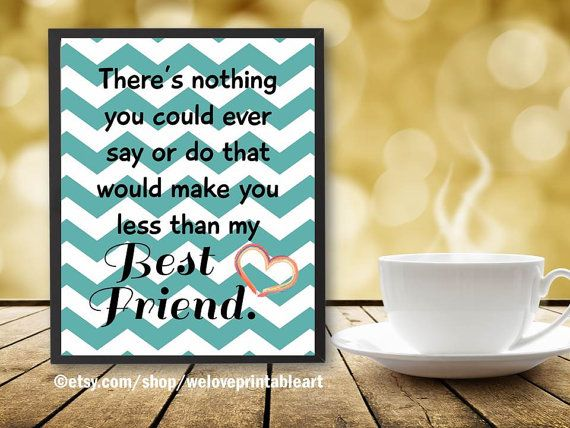 Unique Friendship Gifts, Friendship Gift: This printable chevron ...