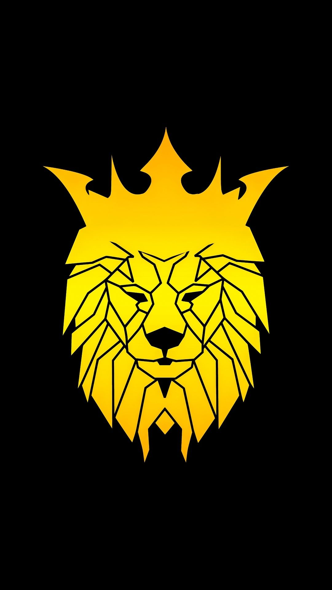 minimal lion wallpaper for android and iphones. en 2020