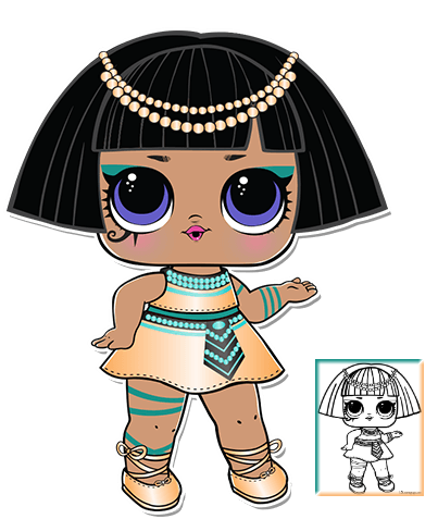 pharaoh series 3 l o l surprise doll coloring page lol surprise