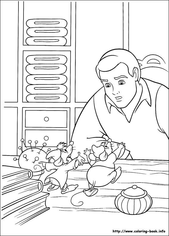 Cinderella coloring picture | Hand Embroidery Children\'s Stories ...