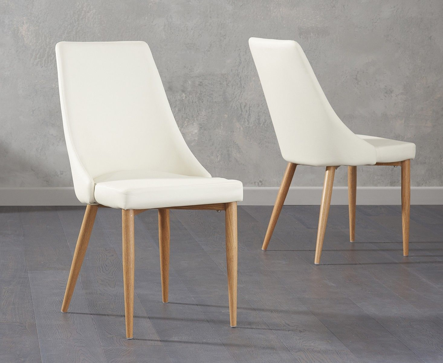 Ashford Cream Faux Leather Dining Chairs  Dining Room  Pinterest Pleasing Beige Leather Dining Room Chairs Design Decoration