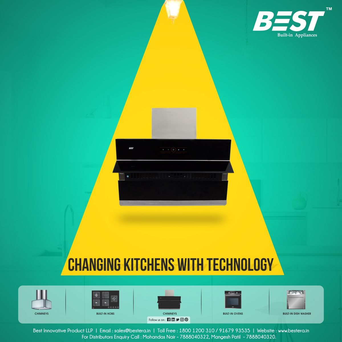 Our kitchen chimney #BestInnovative suction motors remove all the ...