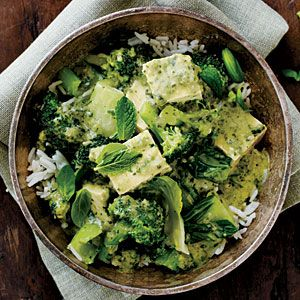 Green Curry with Bok Choy by myrecipes: Add tofu or chicken. #Curry #Bok_Choy #myrecipes