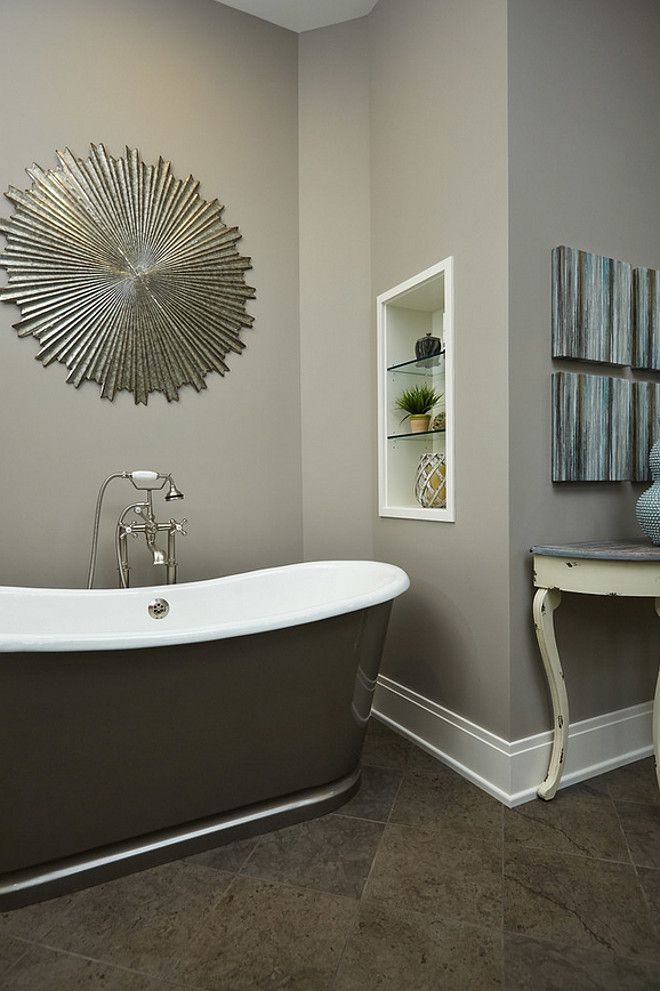 Dark Gray Paint Color This Is Perfect To Update Rooms With Brown Floor Tiles Wall Benjamin Moore 1551 La Paloma