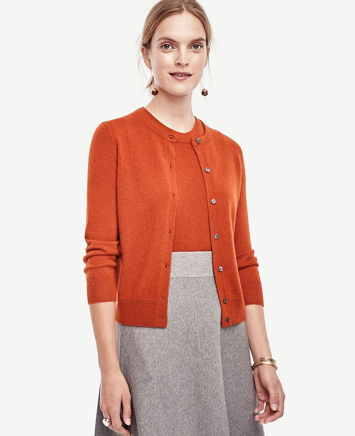 Cashmere Cropped Cardigan | Ann Taylor