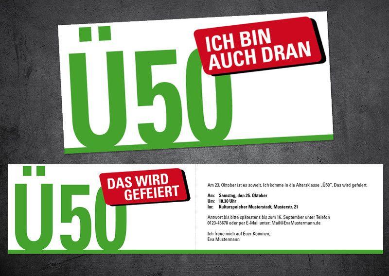 einladungskarten 50 geburtstag selber basteln | deko | pinterest, Einladung