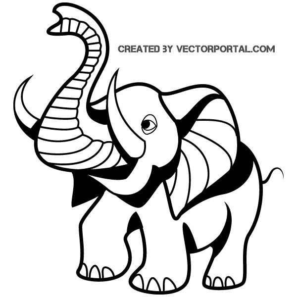 cartoon elephant clip art | free vectors | pinterest