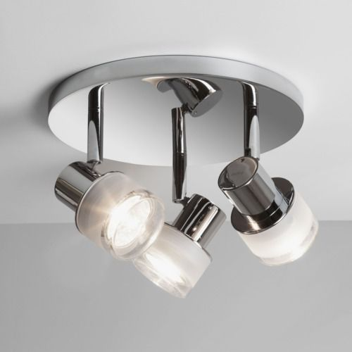 Tokai bathroom spotlight polished chrome finish frosted and clear polished chrome finish frosted and clear glass uses 3 x max lamps rated suitable for bathroom zones 2 and class ii double insulated aloadofball Gallery