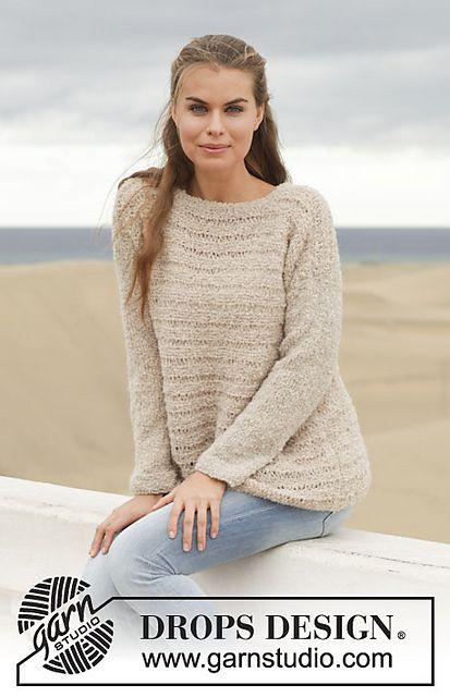 153-18 Sandy by DROPS design in aran bouclé | knit | Pinterest ...