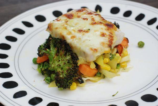 Fotorecept: Diétne pečené filé so zeleninou - Recept pre každého kuchára, množstvo receptov pre pečenie a varenie. Recepty pre chutný život. Slovenské jedlá a medzinárodná kuchyňa