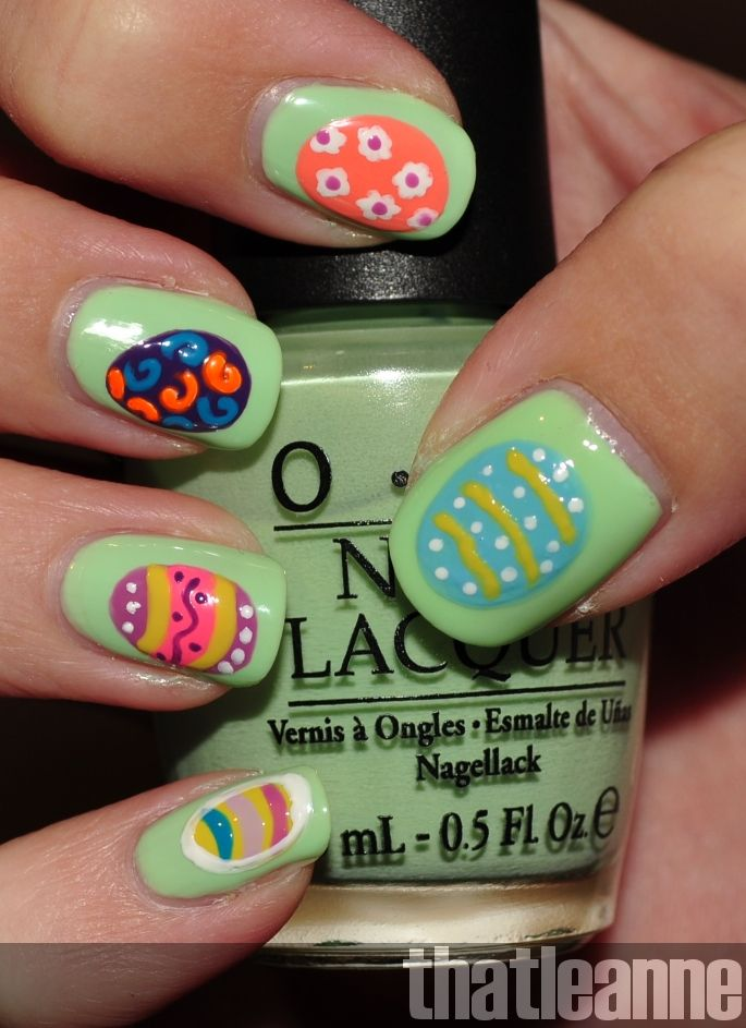 Thatleanne Easter Egg Nail Nails Nailart