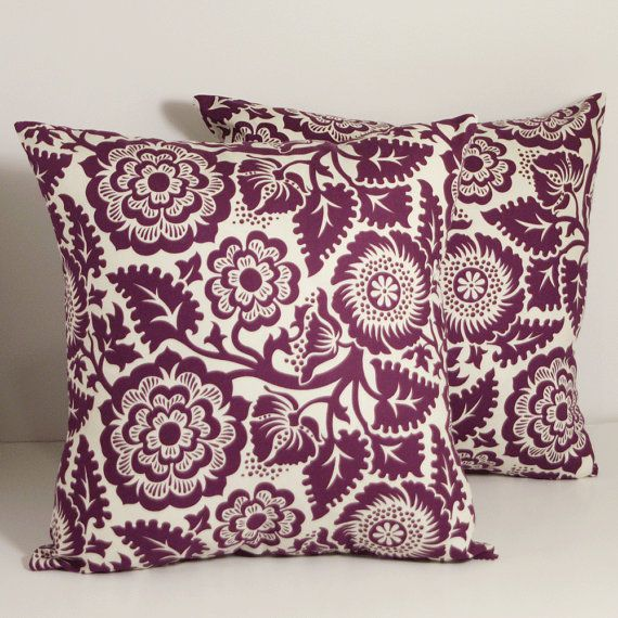 16 x 16 Decorative Throw PIllow Covers by compelledtocraft on Etsy, $24.00