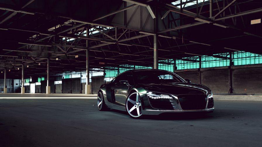 Audi R8 Black Side View Hd Wallpaper Wallpapers Net Car