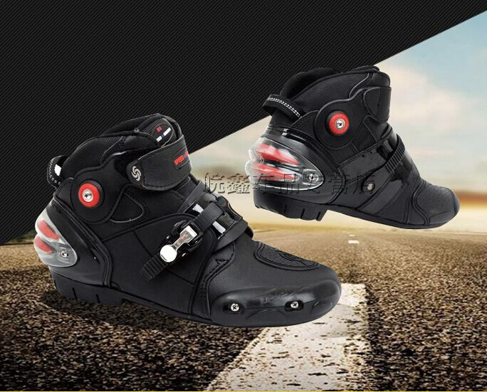 LKN Motorbike Shoes Motocross Boots Protective Riding Gear White