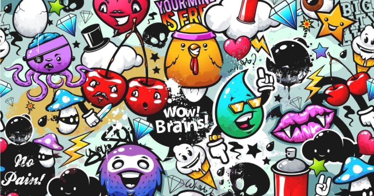 Paling Bagus 16 Wallpaper Keren Doodle Cartoon Graffiti Wallpapers Top Free Cartoon Graffiti Doodle Wal In 2020 Graffiti Doodles Wallpaper Doodle Graffiti Wallpaper