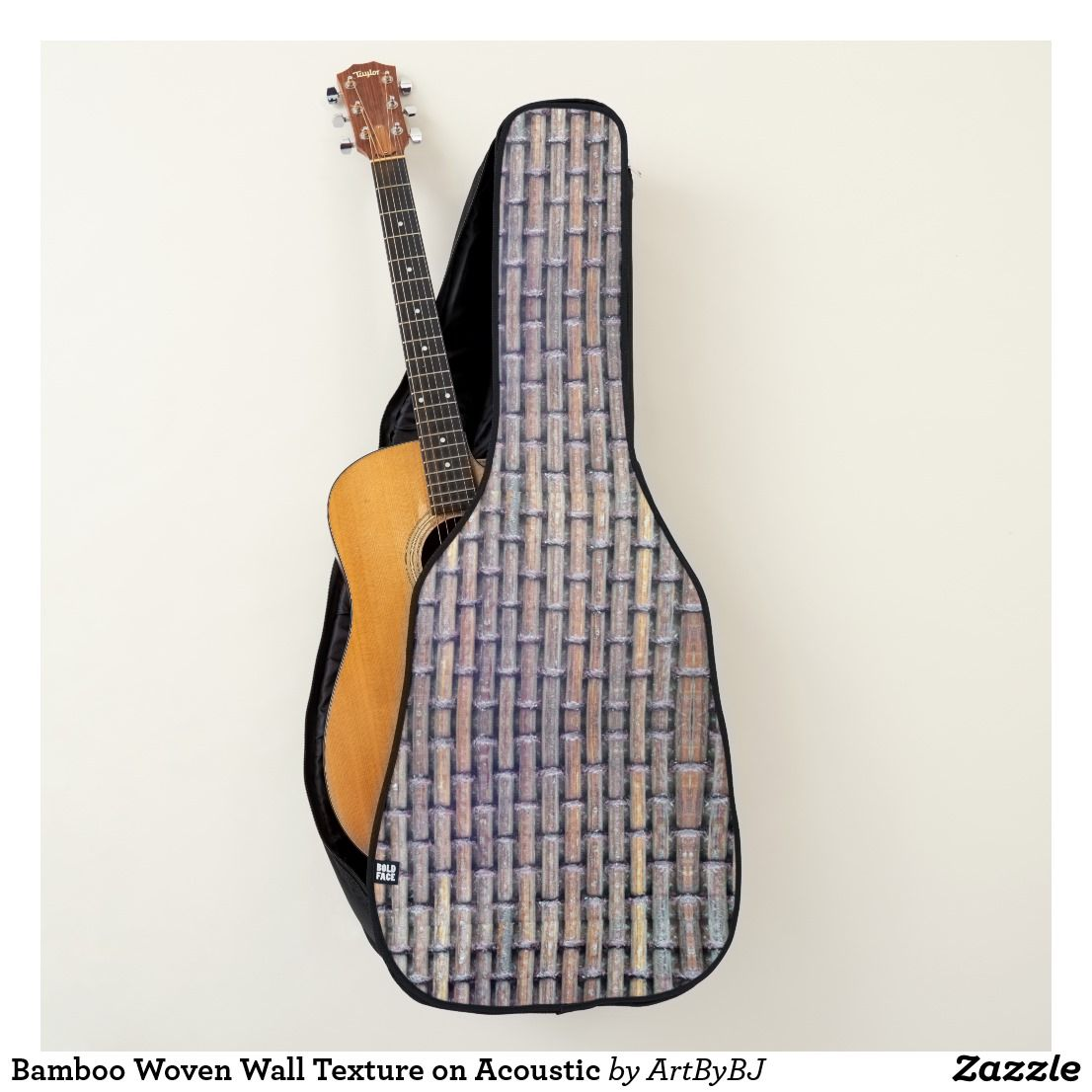 Bamboo Woven Wall Texture On Acoustic Guitar Case