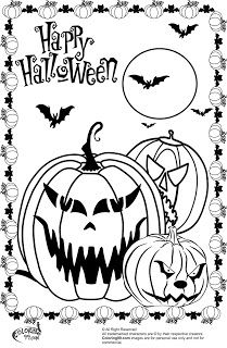 Scary Halloween Pumpkin Coloring Pages | Projects to Try | Pinterest ...