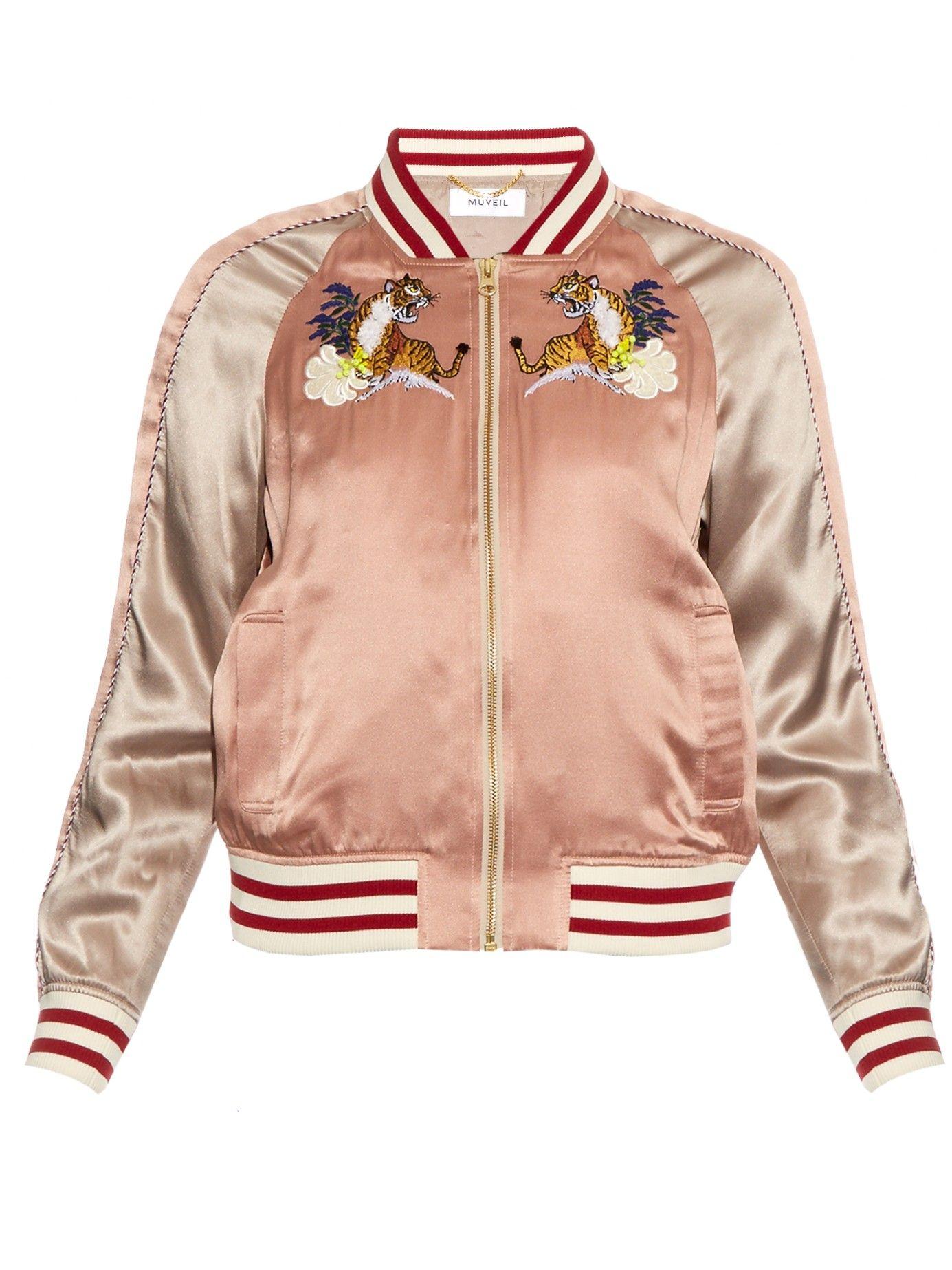 e61eb2f8aa899 Embroidered silk bomber jacket | Muveil | MATCHESFASHION.COM US ...