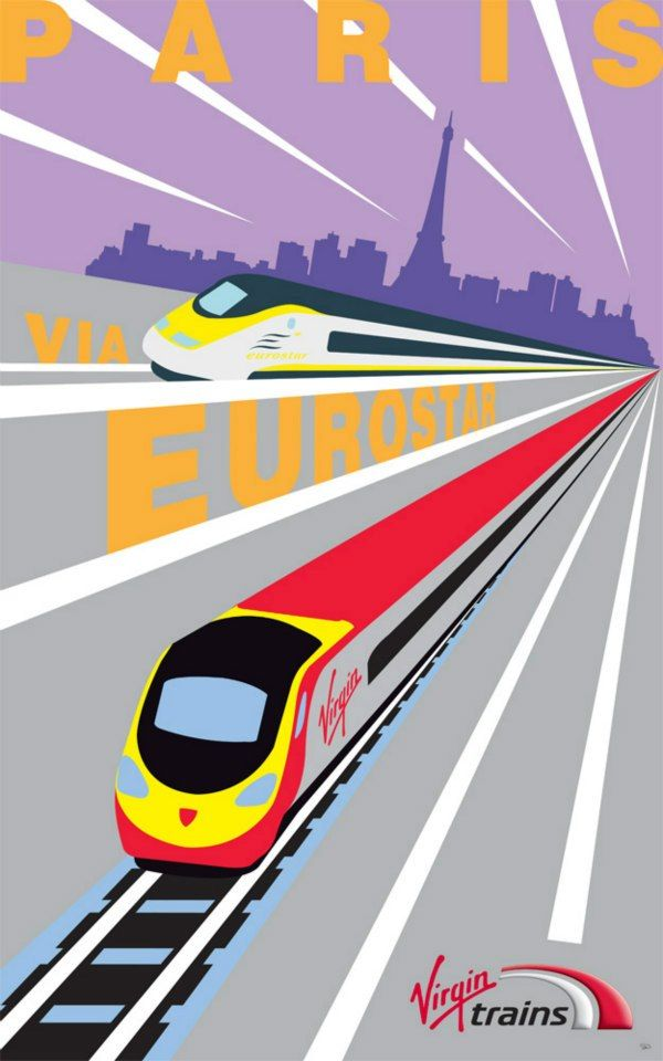 Virgin Trains Art Deco Posters News Virgin Com With Images