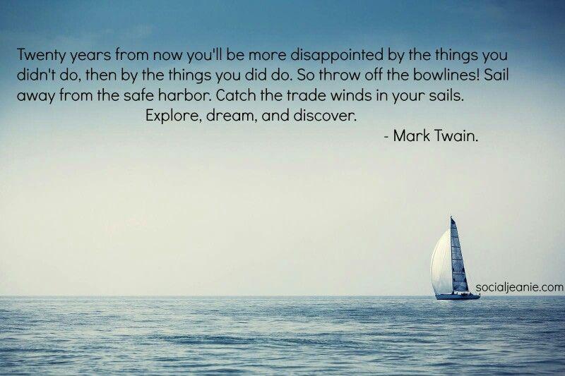 Mark Twain on Regret