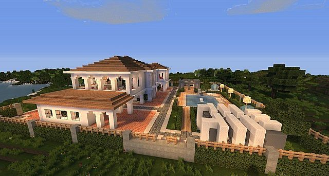 Architecture Houses Minecraft minecraft house hollywood style build 4 | games - minecraft