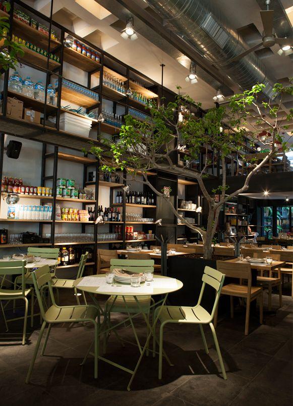Restaurantes cuines mexico mexicodf local dise o de - Estanterias para bares ...