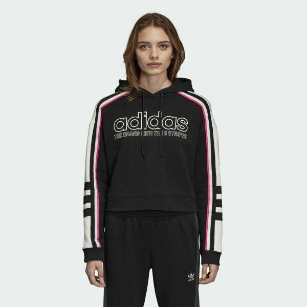 Adidas Large Womens Black Sportswear 3 Stripe Full Zip Up