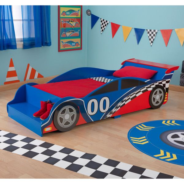 kidkraft race car toddler bed overstock shopping the best prices on kidkraft kids