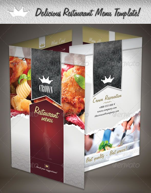 Delicious Restaurant Menu Template Menu Designs Pinterest - restaurant menu design templates