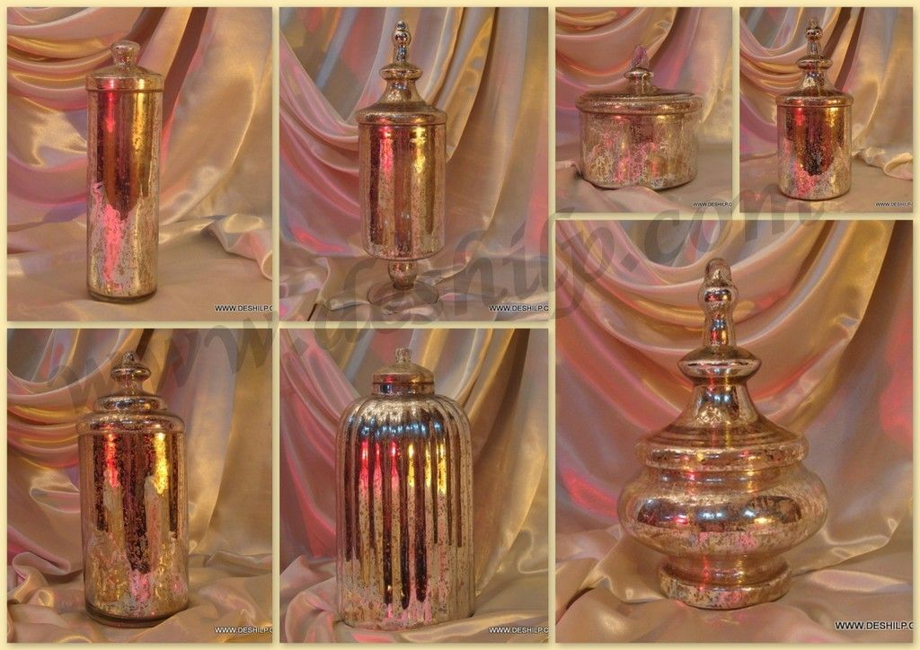 Antique Silver and Glass Jar... #.......http://deshilp.trustpass.alibaba.com/