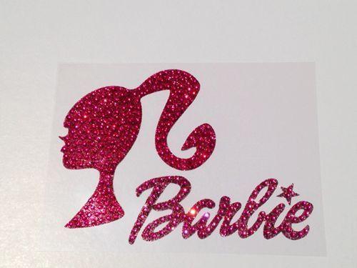 Barbie girl rhinestone glitter bling car window decal sticker