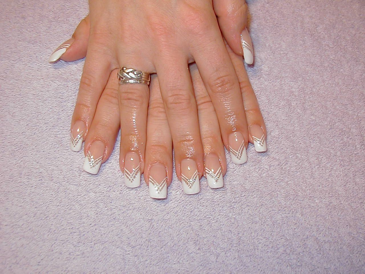 French Manicure French White Classic Manicures Nails Tips