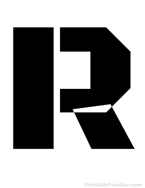 Printable Letter R Stencil  Letter Stencils
