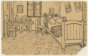Vincent van Gogh; Schets voor De Slaapkamer 1888 - Will Gompertz ...