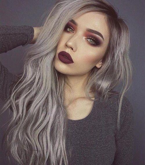 طريقة صبغ الشعر اشقر رمادي زيتوني طريقة صبغ الشعر اشقر رمادي زيتوني Grey Hair Looks Grey Ombre Hair Hair Styles