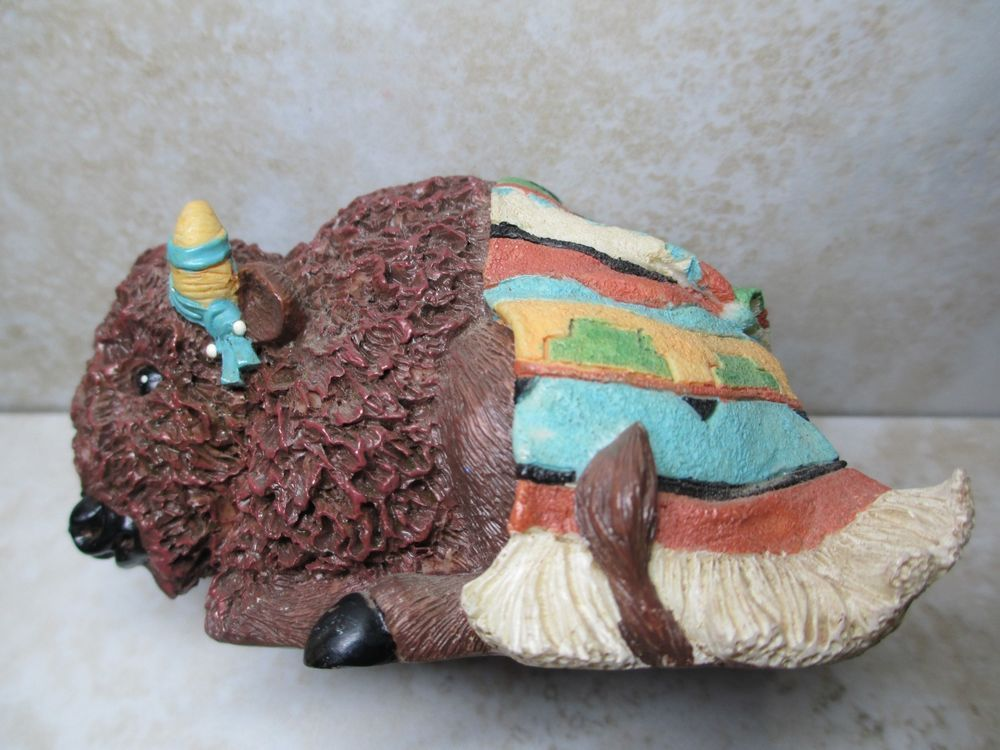 Friends of the Feather Figurine 1997 Bison Blessing