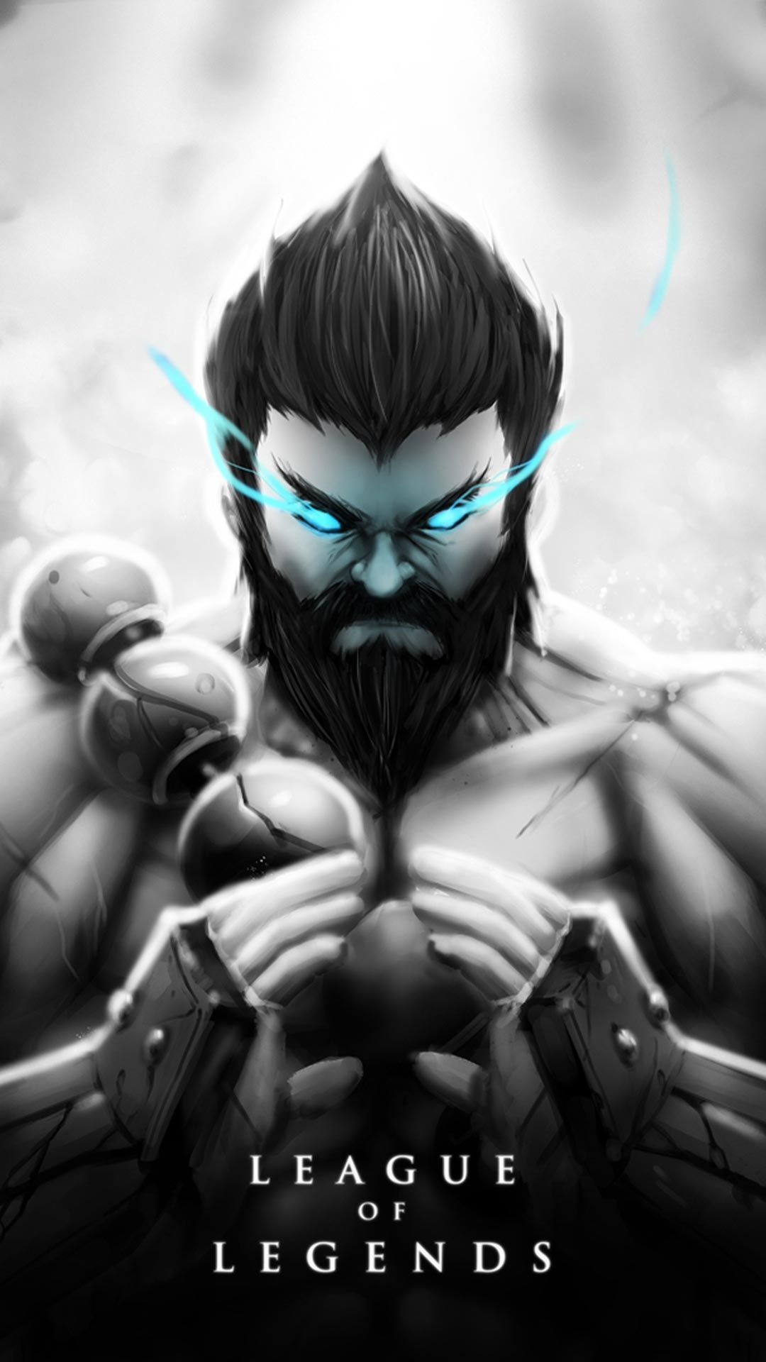 Udyr Skin black and white android, iphone wallpaper