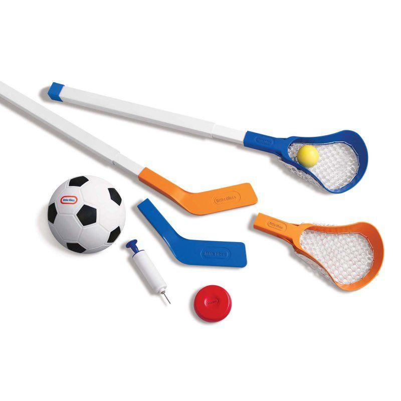 Little Tikes Easy Score Soccer Hockey And Lacrosse Set 620829 Sports Games For Kids Lacrosse Soccer