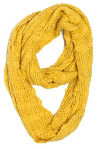 Foreverscarf Solid Knitted Stripe Pattern Infinity Loop Scarf Knit