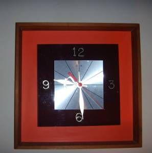 1960s Danish Modern 3d Elgin Wall Clock. #craigslist #ezlooker