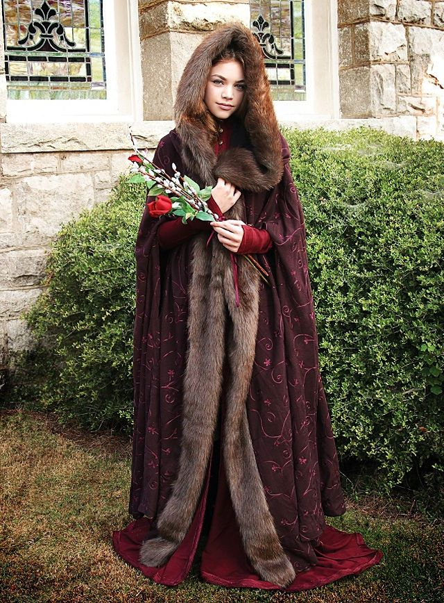 Costume Fur Lined Cape In 2019 Renfest Medieval