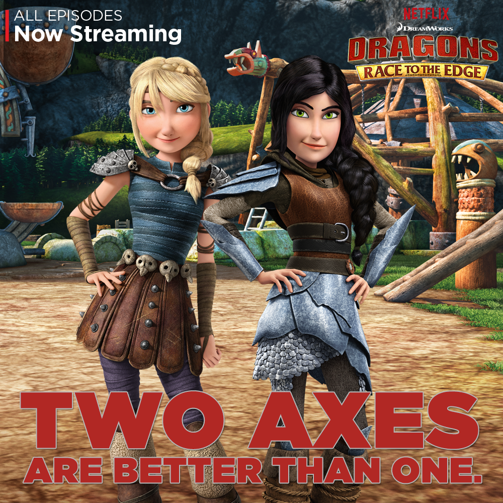 Hiccstridforever karrischaoticcraftscostumes heather how heather and astrid are the toughest of warriors and the truest of friends join them on new battles and adventures on dragons race to the edge ccuart Gallery
