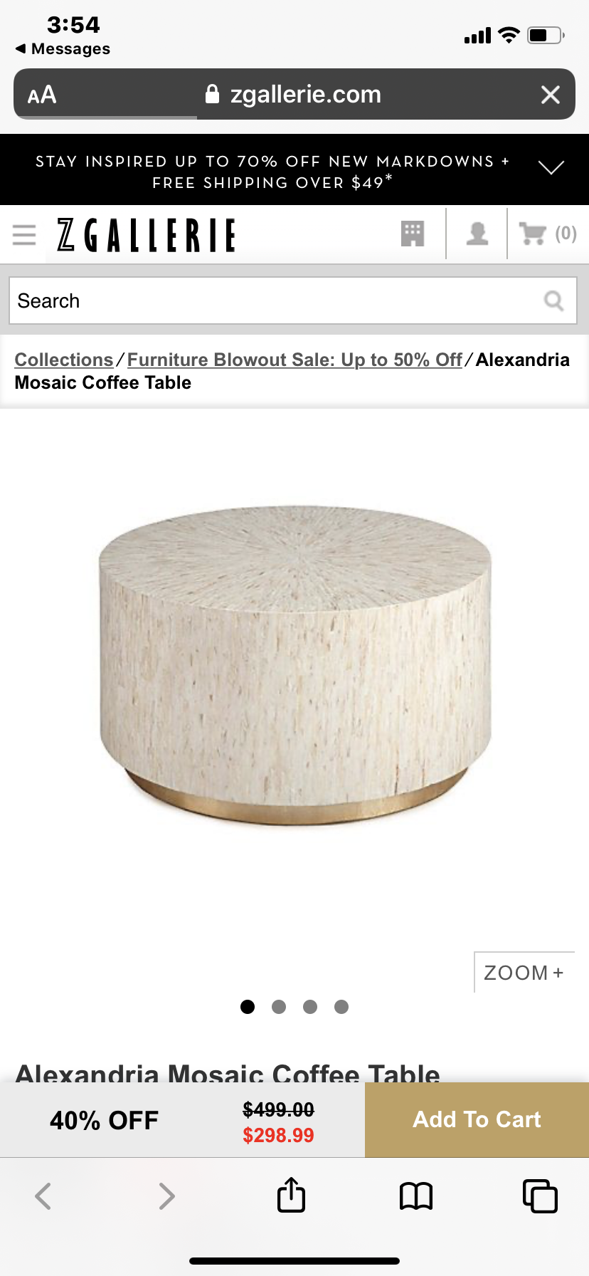 Alexandria Mosaic Coffee Table Vs Mother Of Pearl Coffee Table