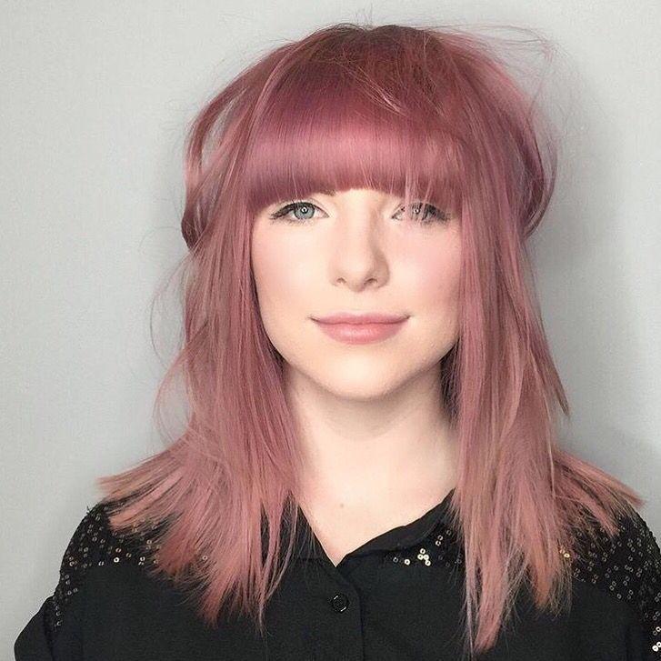 Https S Media Cache Ak0 Pinimg Com 736x 9a 6e E5 9a6ee565a65b409833f19887f377a991 Jpg Dusty Rose Hair Salmon Hair Hair Color Rose Gold
