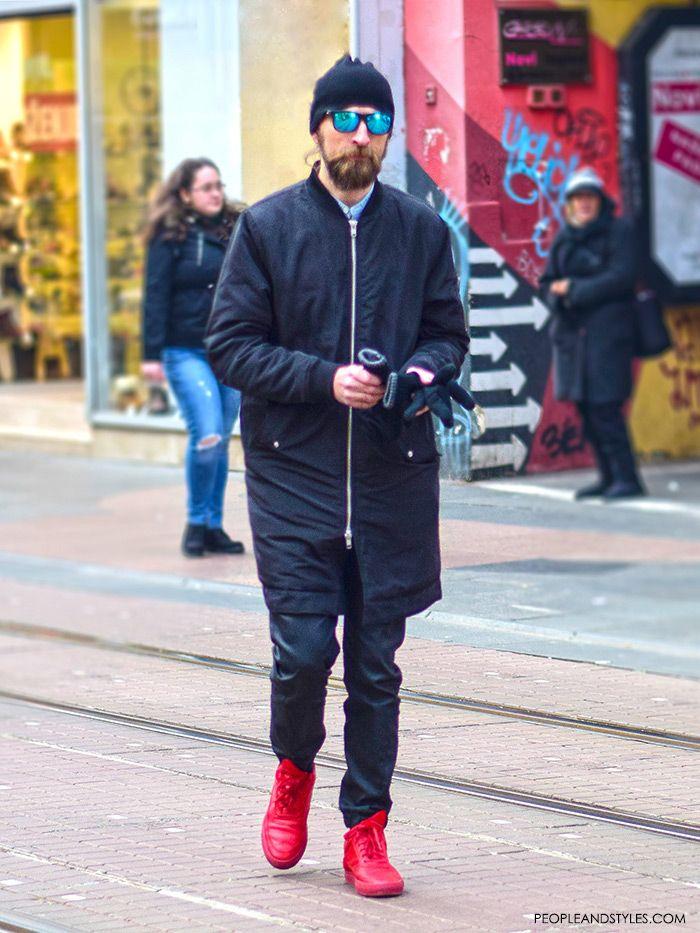 mens red shoes fashion